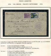BRESIL LETTRE PAR CONDOR-ZEPPELIN-LUFTHANSA DEPART BAHIA 13-9-34 POUR LA FRANCE - Luchtpost