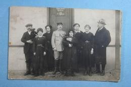 Photo De Groupe Ordinaire Français Bureau De L'Officier - Zu Identifizieren