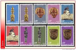 Zaire 0896/05** Statuettes Et Masques Du Zaire  MNH - Zaire