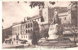 POSTAL     MONACO  - PALACIO DEL PRINCIPE Y EL MONUMENTO CONMEMORATICO DEL 25 ANIVERSARIO - Mónaco