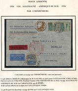 ALLEMAGNE LETTRE PAR L'HINDENBURG DEPART BERLIN 28-4-36 POUR LE CHILI - Luchtpost
