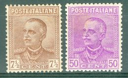 Italy 1928 Effige V.E. III MNH** - Lot. RE224-225 - 1900-44 Victor Emmanuel III