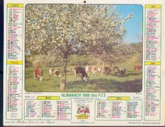 (FRANCE) – Almanach Des P.T.T. 1986 - Calendriers
