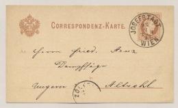 Österreich - 1882 - 2 Kr Franz Joseph Postcard With Privat Advertising Print From JOSEFSTADT To Ungarn - 1850-1918 Empire