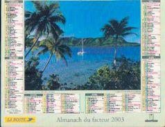 FRANCE) – Almanach Des P.T.T. 2003 - Calendriers