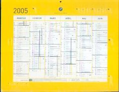 (FRANCE) Calendrier Du Groupe La Poste 2005 - Calendriers