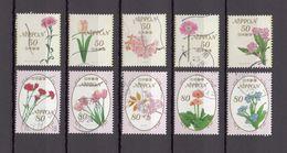 Japan 2013 - Seasonal Flowers 5, 50 & 80 Yen, Used Stamps, Michelnr. 6277-86 - Gebruikt