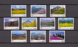 Japan 2013 - Japanese Mountains 2, Used Stamps, Michelnr. 6287-96 - Gebruikt