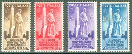 Italy 1933 Giochi Universitari Internazionali MNH** - Lot. RE341-344 - 1900-44 Victor Emmanuel III
