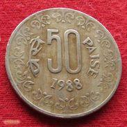 India 50 Paise 1988 C KM# 65 Inde Indien Indies - Inde