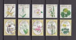 Japan 2013 - Seasonal Flowers 8, 50 & 80 Yen, Used Stamps, Michelnr. 6649-58 - Gebruikt