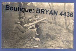 """RARE CARTE PHOTO - MORTIER De 58 Mm T. N°2 Dit """"CRAPOUILLOT""""- C.H.R. Aux TRANCHEES à GUEVENATTEN 20 FEVRIER 1915 - TB** - Weltkrieg 1914-18"""