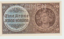 Bogemia & Moravia 1 Koruna 1940  Pick 3s UNC - Bankbiljetten