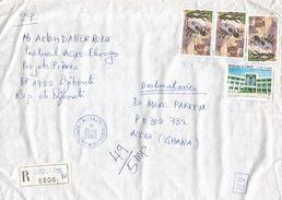 Djibouti 2006 Diplomatic Relations China 45 FDJ Cartomancie 300 FD Advice Of Receipt AR Registered Cover - Djibouti (1977-...)