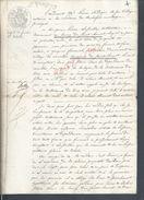 SAINT BONNET 1852 ACTE VENTE DE 2 PRES POUR JACQUE FOURNIAL CONTRE PIERRE LAFSALLAS 2 PAGES : - Manuscrits