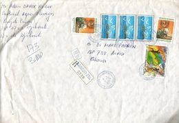 Djibouti 2005 Cat 120 FD Maskali Island 500 FD Independence 45 FD Advice Of Receipt AR Registered Cover - Djibouti (1977-...)