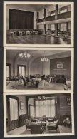 Finsterbergen, Kurhaus Innenansicht, 3 Versch. Karten, 1955 Mit Propaganda - Gotha