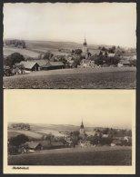 """""""Oberhobritzsch"""" Bei Freiberg, 2 Fotokarten, 1954, 1958 - Freiberg (Sachsen)"""