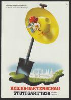 """""""Stuttgart"""", Farb. Karte """"Reichsgartenschau"""", 1979, Pass. Sst - Stuttgart"""