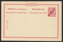 Kplt. Doppelkarte, Saubere Erhaltung, P8, * - Kolonie: Marshall-Inseln