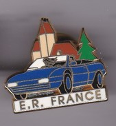 Pin's FERRARI Bleue E R FRANCE Signe ARTHUS BERTRAND - F1