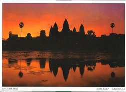 Kingdom Of Cambodia (Cambodge) - Siem Reap, Series 15 - Angkor Wat, Bayon Temple - Pochette De 10 Cartes Neuves - Cambodia