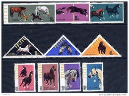 POLAND 1963 Horses Set Of 10 MNH / **.  Michel 1447-56 - 1944-.... Republic