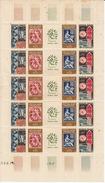 FRANCE 1964 - FEUILLE De 5 BANDES N°14/17A PHILATEC + 2 ENVELOPPES 1er JOUR - Feuilles Complètes