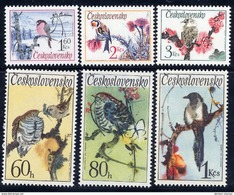 CZECHOSLOVAKIA 1972 Song Birds Set MNH / **.  Michel 2110-15 - Czechoslovakia