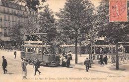 PARIS-75017- LA PLACE DES TERNES , L'ENTREE DU  METROPOLITAIN - Arrondissement: 17