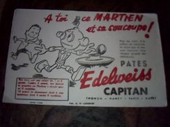 Buvard Pate Edeelweiss Capitan - Buvards, Protège-cahiers Illustrés