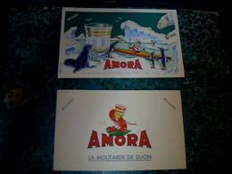 Buvard Moutarde Amora Estampillé - Buvards, Protège-cahiers Illustrés