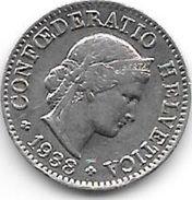 *switzerland 5 Rappen 1938  Km 26b  Vf+ - Switzerland