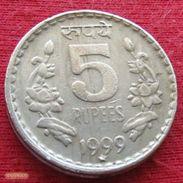 India 5 Rupees 1999 H KM# 154.1 Inde Indie - India