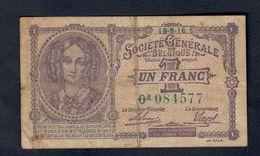 Belgio Belgium 1 Franc 1916 Lotto 069 - [ 2] 1831-...: Belg. Königreich