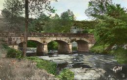 """CPSM"""" DUCEY """"53-Le Pont Du Bateau Sur La Selune - Ducey"""