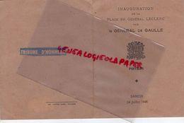 86 - POITIERS- RARE CARTON INVITATION INAUGURATION PLACE GENERAL LECLERC PAR GENERAL DE GAULLE -SAMEDI 24 JUILLET 1948 - Historical Documents