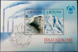 Lithuania, 2009, Mi. 1003-04 (bl. 38), Sc. 890, SG 972, Preserve The Polar Regions And Glaciers, MNH - Preserve The Polar Regions And Glaciers