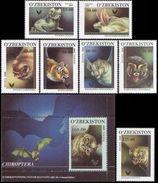 Uzbekistan, 2000, Mi. 266-273 (bl. 26), Sc. 219-26, Bats, MNH - Uzbekistan