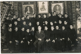 Prizren Real Photo College Students Under The Portaits Of The Royal Family Of Yugoslavia. Drustvo Trezvene Mladezi - Kosovo