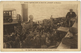 """Serbian Fugitives Come On Board The 3 Armenia """" At Durazzo Durres Albania  Valitch Serbian Army Painter Light Crease - Serbia"""