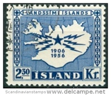 IJsland 1956 50 Jaar Telegraaf Service GB-USED. - 1944-... Republik