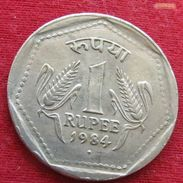 India 1 Rupee 1984 B KM# 79.1 Inde Indie - India