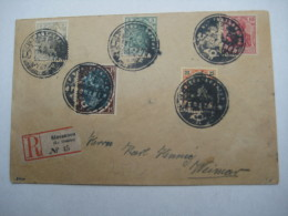 STOOSZNEN  , Klarer Negativ -Stempel Auf Brief Mit Deutschen Marken - ....-1919 Provisional Government