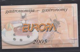 MONTENEGRO  (2005) CARNET EUROPA  N° C 116 **  GASTRONOMIE  (rare) - Europa-CEPT