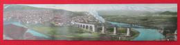 VELES - MACEDONIA, Railway, Train, Long Postcard 41,5x9cm, 1930s - Macedonia