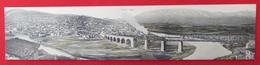 VELES - MACEDONIA, Railway, Train, Long Postcard 42x9cm, 1930s - Macedonia
