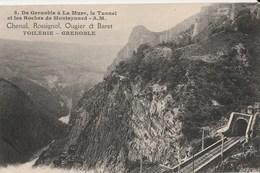 CPA  38 GRENOBLE PUBLICITE AVIS DE PASSAGE TOILERIE ROSSIGNOL  TUNNEL MONTMEYRAND - Grenoble