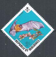 Maldive Islands1973. Scott #448 (MNH) Fruit Bat, Chauve Souris - Maldives (1965-...)