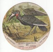"Chromo N°64 ""La Vache Qui Rit"". Série Congo Belge- Belgisch Congo. Calao Terrestre - Kaffer Bromvogel - Autres"